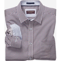 Johnston & Murphy Men's Rotated Circle Print Shirt - Navy/Red - Size 3XL found on Bargain Bro from Johnston & Murphy for USD $75.62