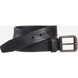 Johnston & Murphy Men's Washed Leather Belt - Black - Size 32 found on Bargain Bro from Johnston & Murphy for USD $45.22