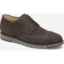 Johnston & Murphy Men's Martell Wingtip Shoe - Brown Tumbled Oiled Nubuck - Size 11 - M found on Bargain Bro from Johnston & Murphy for USD $140.60