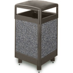 United Receptacle Aspen 29 gallon brown trash can with weather urn and liner found on Bargain Bro from Kitchen Source for $836.68