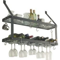 Rogar double wine rack, Black