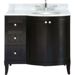 Empire ? Carrera Marble Top w/ White Bowl Installed, White, Right Bowl found on Bargain Bro from Kitchen Source for USD $569.24