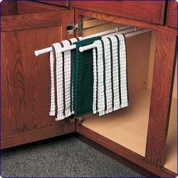 KV Real Solutions Door Mount Towel Rack, White