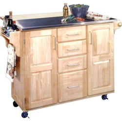 Home Styles Stainless Steel Top Kitchen Cart