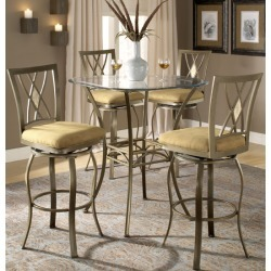 Hillsdale Brookside 5-Piece Bistro Table Set, Brookside Diamond Stools found on Bargain Bro India from Kitchen Source for $975.00