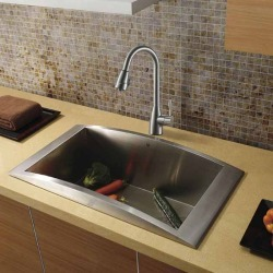 Vigo Topmount Stainless Steel Kitchen Sink and Faucet found on Bargain Bro India from Kitchen Source for $879.60