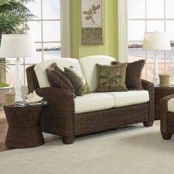 Home Styles Cabana Banana Love Seat, Cocoa