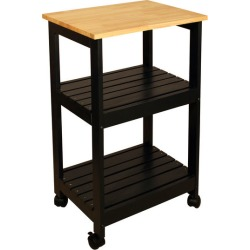 Catskill Utility Kitchen Cart, Black Finish
