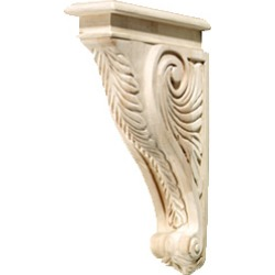 Hafele Corbel, acanthus, 2 inchW x 9-3/16 inchD x 13 inchH, pine found on Bargain Bro India from Kitchen Source for $157.66