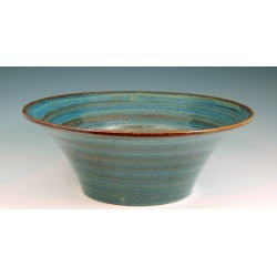 Vermont Art Sinks Liberty Handthrown Stoneware Sink, 14-1/2inch W x 6inch H, Frog, Shown in Broken Blue found on Bargain Bro India from Kitchen Source for $638.60