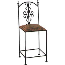 Grace Gothic Bar Stool with Decorative Back and Fabric Seat with Arms 30 inch found on Bargain Bro India from Kitchen Source for $250.04