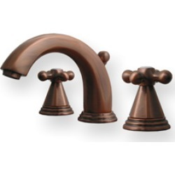 Whitehaus Blairhaus Truman Widespread Bathroom Faucet with Hexagon Cross Handles in Antique Brass found on Bargain Bro Philippines from Kitchen Source for $476.53