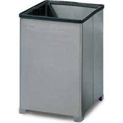United Receptacle Stainless Steel Medium Trash Receptacle with Retainer Bands found on Bargain Bro from Kitchen Source for $187.89