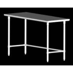 John Boos SS Work Table w/Galvanized Bracing & Legs, 120 inchW x 30 inchD, 6 Legs found on Bargain Bro India from Kitchen Source for $1086.92