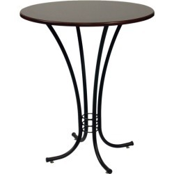 Trica Erika Dining Height Table with Espresso Melamine Top, 30-1/8 H, 36 Dia. Melamine Top, Copper found on Bargain Bro from Kitchen Source for USD $405.84