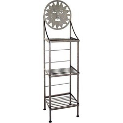 Grace Art/Silhoutte Hand Painted Bakers Rack, Jade Patina, Primrose Floral Pattern found on Bargain Bro India from Kitchen Source for $344.60
