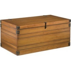 Home Styles - Large?Wooden?Planked?Storage Chest, 40 W?x?22 D?x?18? H, Honey