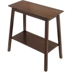 Winsome Wood Hall Table with Shelf in Antique Walnut Finish
