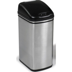 Safco? 8.4-Gallon Hands Free Motion Sensor Trash Can, 10 inch W x 14 inch D x 22 inch H, Stainless Steel found on Bargain Bro India from Kitchen Source for $150.51