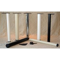 Best Brackets Tubular Steel Table Leg 80mm (3-1/8inch) Dia., Almond Powder Coat Finish