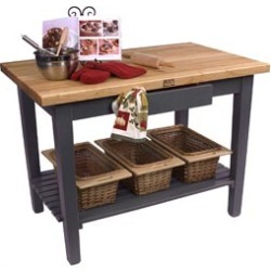 John Boos Classic Country Worktable, Eggplant found on Bargain Bro Philippines from Kitchen Source for $649.00