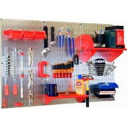 Aluminum Workbench Kit, Red Accessories, Galvanized