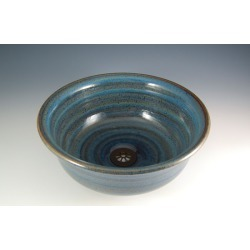 Vermont Art Sinks Underhill Handthrown Stoneware Sink, 13inch W x 4inch H, Frog, Shown in Broken Blue found on Bargain Bro India from Kitchen Source for $566.50