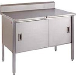 John Boos Stainless Steel Enclosed Table with Sliding Doors found on Bargain Bro India from Kitchen Source for $2846.88