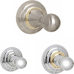 Alno Embassy Series 1-1/2 inch Robe Hook in Polished Nickel found on Bargain Bro India from Kitchen Source for $45.71