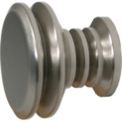 Allied Brass Designer 1-1/8 inch Cabinet Knob, Standard Finish, Polished Brass