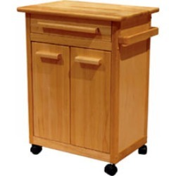 Winsome Wood Kitchen Cart, Beechwood