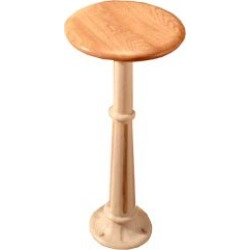 Sass Roman Painted Pedestal Bar Stool with Swivel Oak Seat found on Bargain Bro Philippines from Kitchen Source for $199.82
