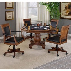 Hillsdale Furniture Kingston 5-Piece Game Set, 4 Chairs and 1Table