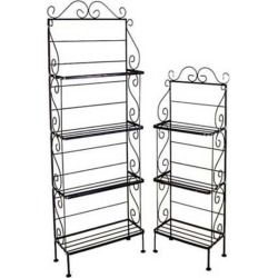 Grace 24 inch Light Three Shelf Rack, Plain Tips, Sand found on Bargain Bro Philippines from Kitchen Source for $389.77