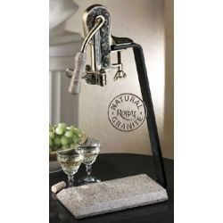 Rogar Estate Wine Opener with Table Stand, Antique Bronze/Desert Sand Granite Handle & Stand found on Bargain Bro from Kitchen Source for USD $130.53