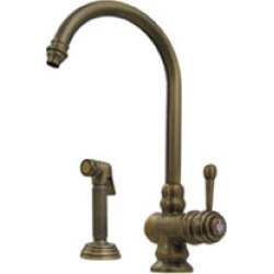 Whitehaus Colonial Single Hole Faucet w/ Side Spray in Polished Chrome