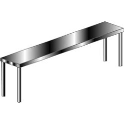 Aero Stainless Steel Table Mounted Overshelf found on Bargain Bro Philippines from Kitchen Source for $1182.18