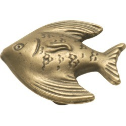 Belwith Keeler Knob, Treasures Collection, Angel Fish, Antique Mist Finish, 1-3/8 inch diameter