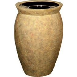 United Receptacle by Rubbermaid - Milan Open Top Waste Receptacle, 15 Gal., Weathered Terracotta found on Bargain Bro Philippines from Kitchen Source for $1127.66