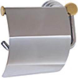Whitehaus White/Chrome Hooded Toilet Paper Holder