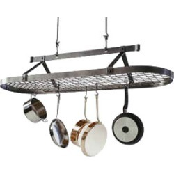 Enclume Hammered Steel Five Foot Oval Hanging Pot Rack
