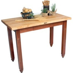 John Boos 48 Butcher Block Island with Drawer found on Bargain Bro India from Kitchen Source for $839.00