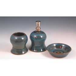 Vermont Art Sinks Accessory set including Lotion Dispenser, Soap Dish and Toothbrush Holder, Broken Blue found on Bargain Bro India from Kitchen Source for $133.90