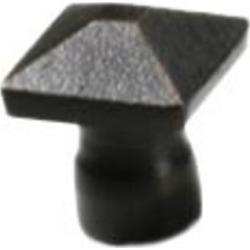 Hamilton 1 inch Square Knob, Authentic Bronze Construction in Special Order Finish: Silver Nickel Antique found on Bargain Bro Philippines from Kitchen Source for $11.33