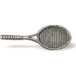 Buck Snort sealed and lacquered tennis racket shaped pull