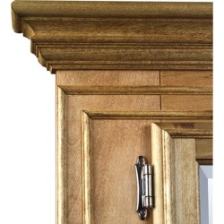 Canby Denver Custom Double Medicine Cabinet, Standard, Country Pine, Right Hinge, Visible Hinge, Wall Mount found on Bargain Bro Philippines from Kitchen Source for $2222.59