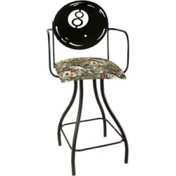 Grace Collection Eight Ball Silhouette 24 Seat Height Swivel Bar Stool w/Arms found on Bargain Bro India from Kitchen Source for $260.55