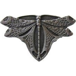 Notting Hill pewter Knob, Dragonfly, Antique Pewter, 1-3/4 inch diameter