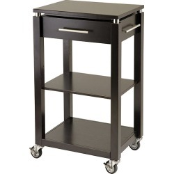 Winsome Wood Linea Kitchen Cart with Chrome Accent