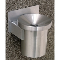 Glaro Wall Mounted Funnel Cover Cigarette Receptacle in Satin Aluminum, 4-1/2 inch Dia x 6 inchH found on Bargain Bro India from Kitchen Source for $59.99
